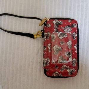 Disney Parks all in one Minnie Mouse wristlet